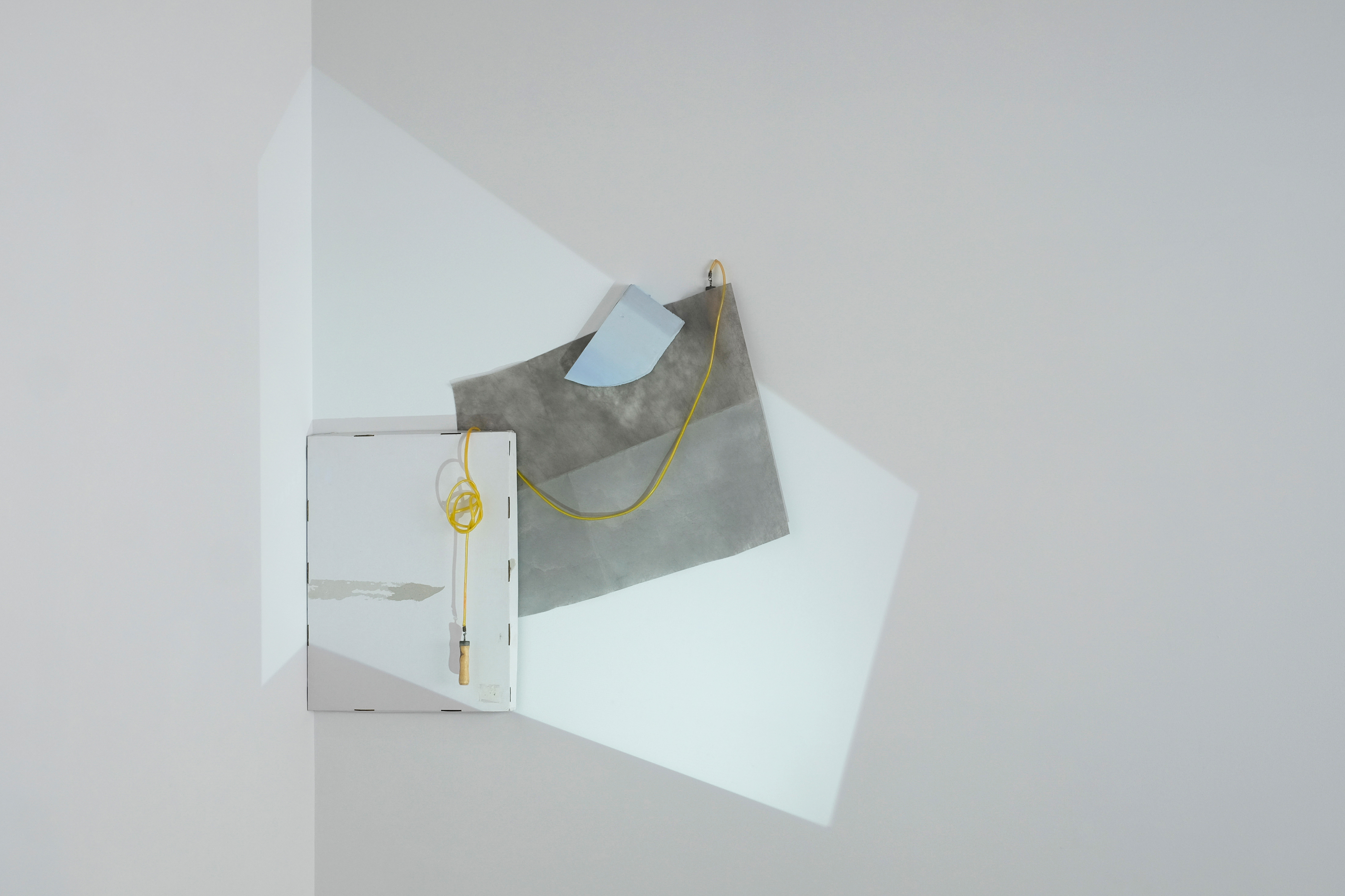 Alexine McLeod - Composition with Projection IX, Dimensions variable; 67 x 55 x 5 inches, 2016