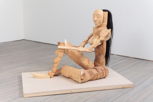 Shawn Hunt - Odalisque, 2014 red cedar, yellow cedar, 50″l x 41″h x 21″w